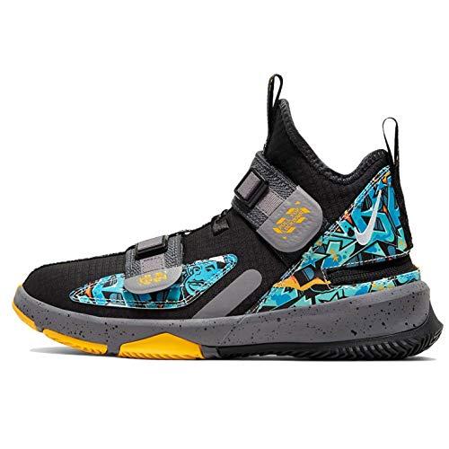 Nike Lebron Soldier Xiii Flyease Gs - Black/University Gold-Gunsmoke, Größe:4Y