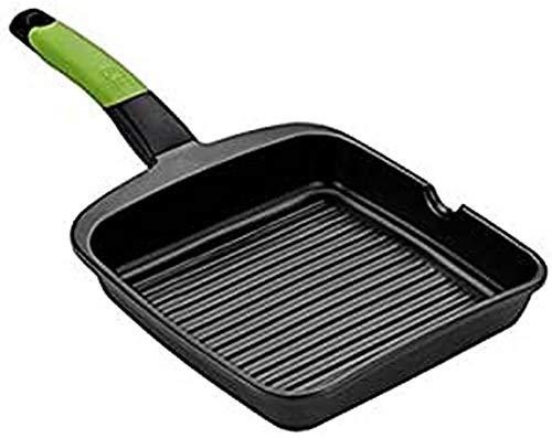 BRA PRIOR - Grill asador con rayas, aluminio fundido con antiadherente