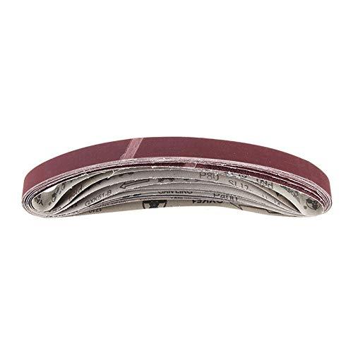 LITAO-XIE, LT-Discs, 10pcs 30mm X 580mm 60 Zu 1000 Grit Schleifbänder for Bandschleifer-Aufsatz Verwenden Motor/Winkelschleifer (Größe : 120)