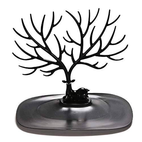 Colgante Pendientes Portable Práctico de madera Multiolor del sostenedor del estante de demostración del organizador de la joyería collar anillo del pendiente del soporte del árbol de la Oferta