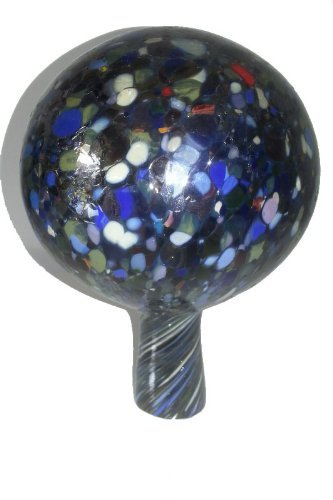 Oberstdorfer Glashütte Gartenkugel farbige Rosenkugel bunt verspiegelt Decorative Kristallglas Blumenkugel frostfest mundgeblasen Durchmesser ca. 9 cm