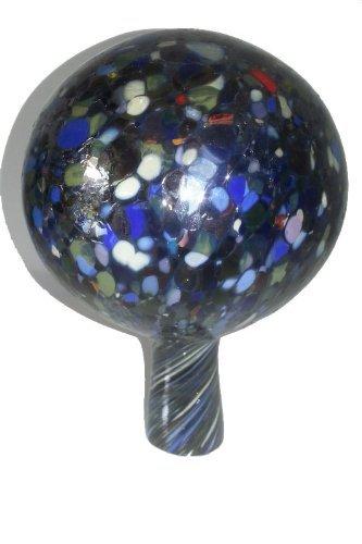 Tuinbol, gekleurde rozenbol, spiegelend, decoratief kristalglas, vorstbestendig, mondgeblazen, diameter ca. 9 cm Oberstdorfer Glashütte