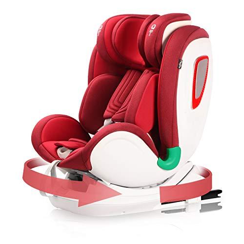 Miophy i-SIZE Seggiolino Auto Girevole a 360° ISOFIX per Bambini 0-12 anni,40-135cm, (0-36kg,Gruppo 0+1/2/3) protezione laterale SIPS Plus con...