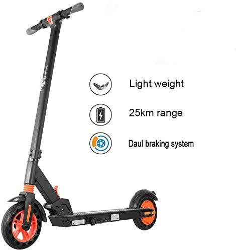 Phaewo Elektro Scooter Erwachsene mit APP,LCD-Display,25km-Langstreckenbatterie,8,5-Zoll-Kick-Reifen,3-Gang-Höchstgeschwindigkeit 25 km/h,Vorder-und Rücklicht,Ultralight E-Scooter für Jugendliche