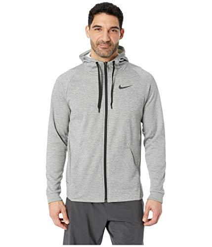 Nike Men's Dri-FIT Therma Grey/Black Full-Zip Training Hoodie (Grey, XXX-Large)