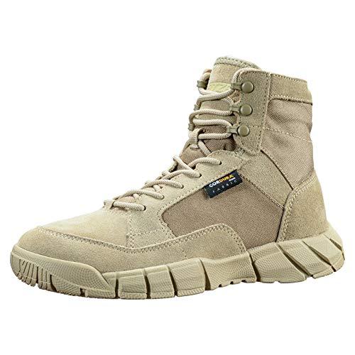 YEVHEV Tactical Schuhe Herren Leichte Militär Stiefel rutschfeste Ultralight Sportschuhe Verschleißfest Militärstiefel für Camping,Wandern,Sport,Outdoor, Sand, Gr. 43 EU