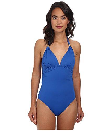 Lauren by Ralph Lauren Damen Laguna Solids Tie Back Neckholder Mio Einteiler Marina Badeanzug 12