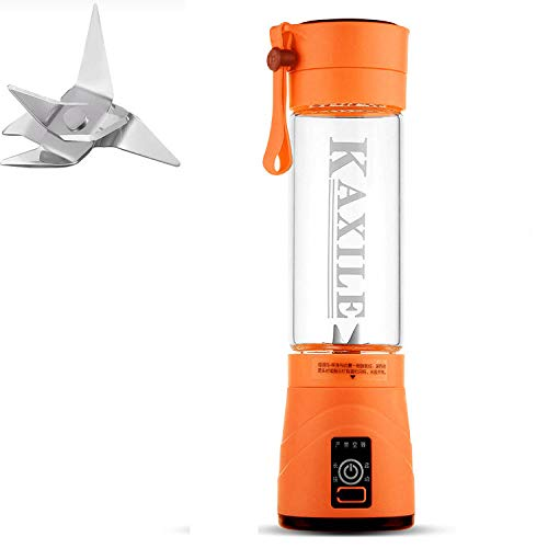 B/H Licuadora Portátil,Exprimidor eléctrico portátil, licuadora USB Multifuncional-Naranja,Verdura Batido Blender