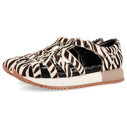 GIOSEPPO Livermore, Zapatillas sin Cordones Mujer, Multicolor Cebra Cebra, 36 EU