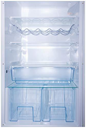 Wallario Garten-Poster Outdoor-Poster - Leerer Kühlschrank - offene Leere ohne Inhalt in Premiumqualität, Größe: 61 x 91,5 cm, für den Außeneinsatz geeignet