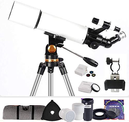 MWKL Telescopio Refractor de astronomía de 80 mm, monoscopio astronómico para niños, Cielo para Principiantes, monocular, telescopio...
