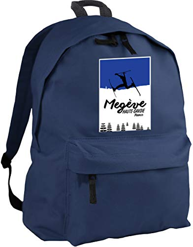 HippoWarehouse Megeve Haute-Savoie France Skiing Backpack ruck Sack Dimensions: 31 x 42 x 21 cm Capacity: 18 litres