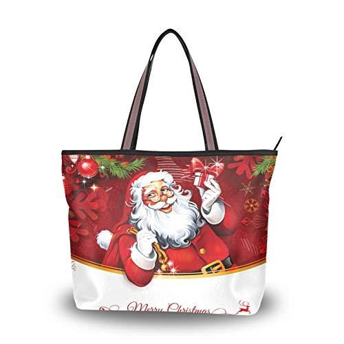 Ligero Correa Papá Noel Regalo de Navidad Bolsos de regalo Bolsos de hombro Monedero Bolso de compras para mujeres Niñas Señoras Estudiante