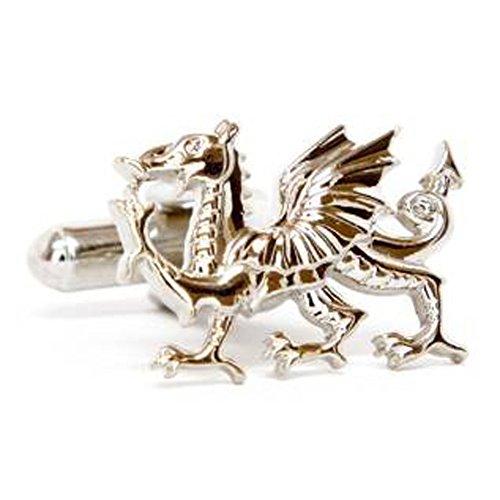 Silver Smith - Boutons De Manchette En Argent Dragon De Gallois A010 Cut