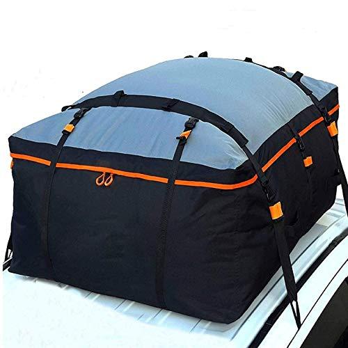 Estante del coche Soft Shell Techo Del equipaje del viaje del vehículo Caja de almacenamiento Presión de pegamento en la azotea Cargo Carrier impermeable Box, for todo tipo de coches, 15 pies cúbicos