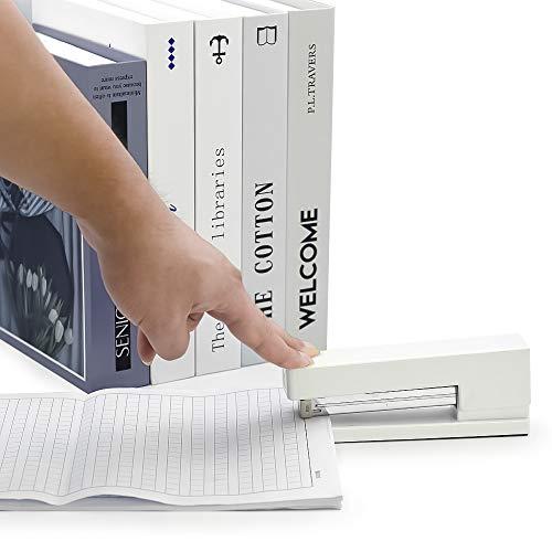 Stapler with 1000 Staples-Plier Stapler Save 60% Power,Good for Stapling at Home School or Warehouse (White Stapler Suit) Photo #4
