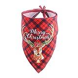 CHIRORO Pañuelo de Toalla de Saliva para Perro Bufanda con Estampado navideño Bufanda Cachorro Saliva Toalla Baberos Accesorios,Estilo 5