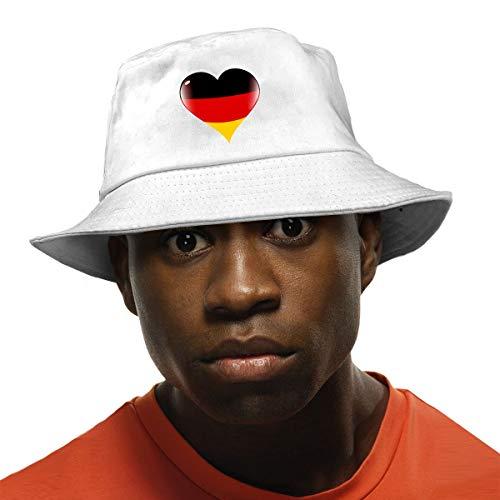 Arehji Alemania - Sombrero de sol con protección UV, unisex, plegable, color negro