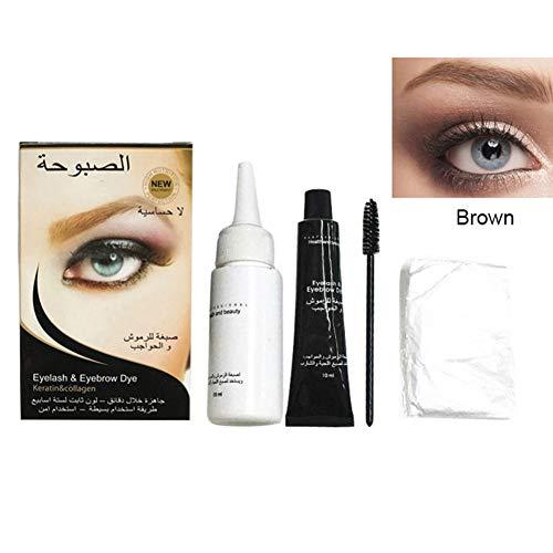Symeas Kit professionnel de teinture pour les cils et les sourcils Kit de teinture pour les sourcils durable Tattoo Waterproof Gel pour les sourcils