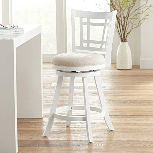 Hillsdale Furniture Fairfox Stool, Counter, White