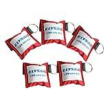 elysaid CPR Schlüsselanhänger Transparent Einweg Vavel Training Maske & Transparent Handschuh -