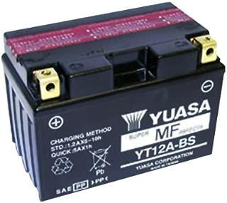 Yuasa YT12A-BS Maintenance free VRLA Battery for 1999-2010 Suzuki GSX/SV/TL Mod