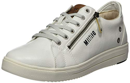 Mustang 4133-301-1, Sneakers Basses Homme, Blanc (Weiß 1), 43 EU