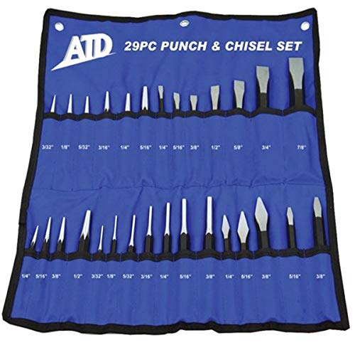 ATD Tools 729 29-Piece Punch and Chisel Set