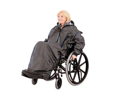 Ability Superstore - Regencape mit Ärmeln für den Rollstuhl, schwarz