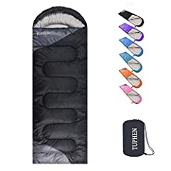 GREAT FOR ALL SEASONS - Rated temperature 5(℃)--25(℃), which allows sleeper warm even at 40(℉). Comfort temperature is 17(℃)--24(℃). This is achieved through double-filled technology. Perfect for backpacking, camping and hiking even using at home. Ce...