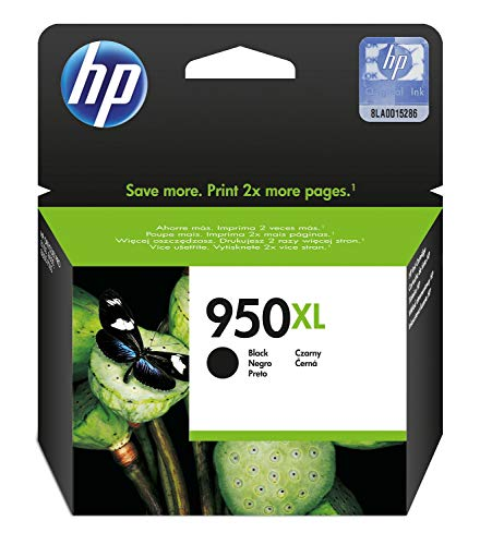 HP 950XL CN045AE Cartuccia Originale per Stampanti a Getto di Inchiostro, Compatibile con Officejet Pro 8100, 8600, 8600 Plus, 8610, 8615, 8620, 8640, Officejet Pro Mono 251dw e Pro 276dw, Nero