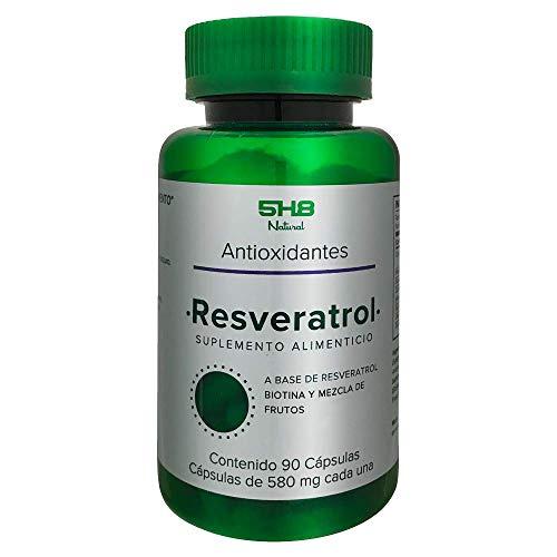 RESVERATROL (ANTIOXIDANTES) 5H8 FRASCO CON 90 CAPSULAS DE GELATINA DURA