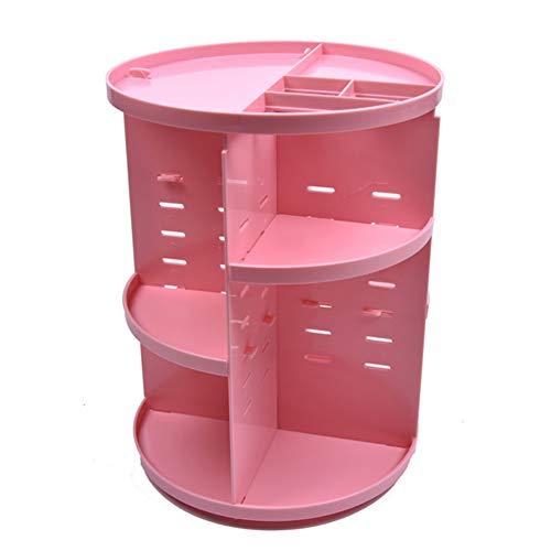 ZNSH 360, Make-up-Aufbewahrungsbehälter, DIY Adjustable Cosmetic Drehscheibe Drehgestells Storage Rack, große Kapazität, Gelöst Die Mess of Badezimmer Countertops,Rosa