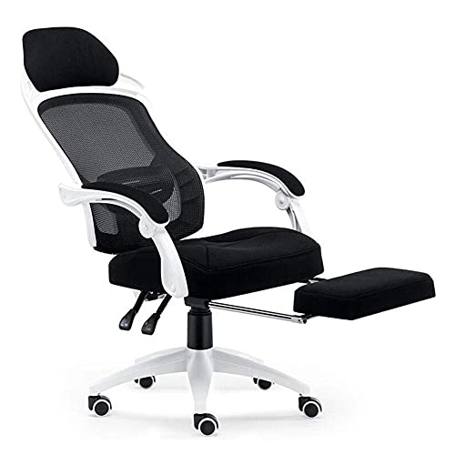 N&O Renovation House Leisure Chairs Office Chair Ergonomic Swivel Mesh Chair Headrest Telescopic Footrest Tilt Function Adjustable Height 46 54cm Durable Strong