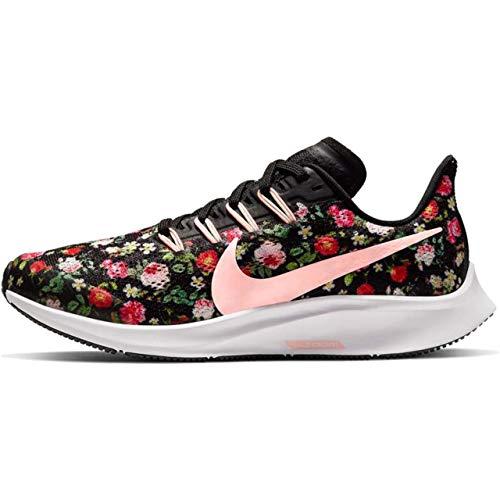 Nike Air Zoom Pegasus Vintage Floral Traillaufschuhe, Mehrfarbig (Black/Pink Tint/Pale Ivory/White 1), 35 EU