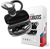 Genius True Wireless Earbuds, v5.0 Bluetooth Earbuds with Noise-Cancelling, IPX5 Waterproof Earbuds, Quick Charging Earbuds with Long Lasting Charging Power Bank Case for Android and iPhones