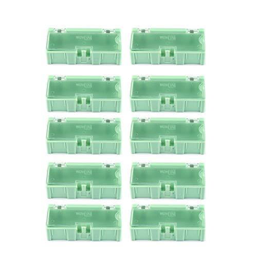 Delicacydex 10pcs Petit Outil vis Objet composant électronique pièces de Stockage boîte de Stockage Cas de Laboratoire SMT SMD Saute automatiquement conteneur de correctifs - Vert