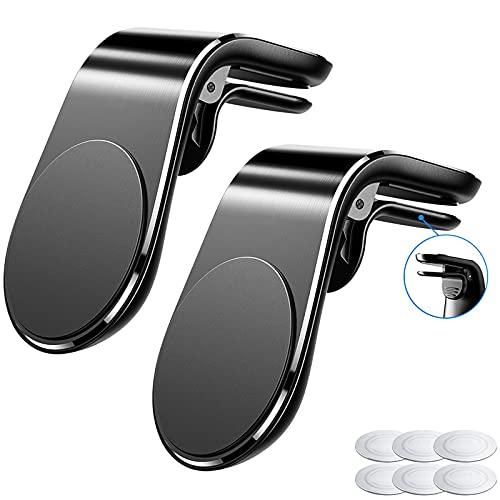 McNory Supporto Magnetico Auto Universale, (2 Pezzi)Smartphone Porta Cellulare da Auto [Forte Magnetico] Mini Telefono Supporto Ventilazione per iPhone 8 7 Plus Samsung S9 Huawei P30 Mate 20 Lite GPS