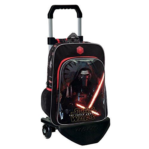Star Wars The Force Mochila Escolar con Carro, Color Negro