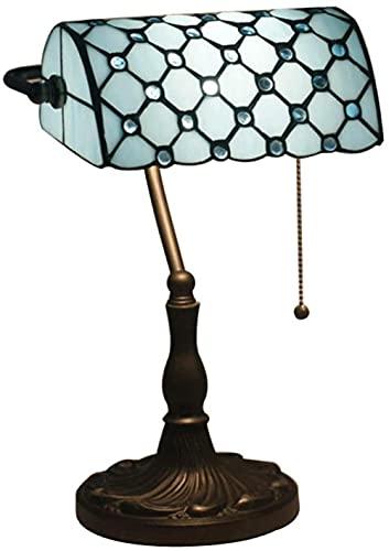 Cama Faros Tiffany Billete de banco Lámpara de color de color de color de color de 10 pulgadas Vintage Metal Fundación Instituto Instituto Oficina Decoración Iluminación Luz de lectura