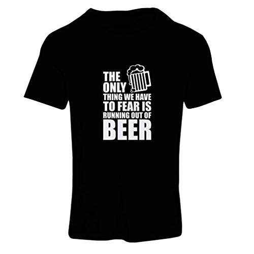lepni.me Camiseta Mujer Tener Miedo de no Tener una Cerveza - para la Fiesta, Bebiendo Camisetas (X-Large Negro Fluorescente)