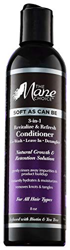 THE MANE CHOICE Soft As Can Be Revitalize & Refresh 3-in-1 Co-Wash, Leave-In, Detangler (8...