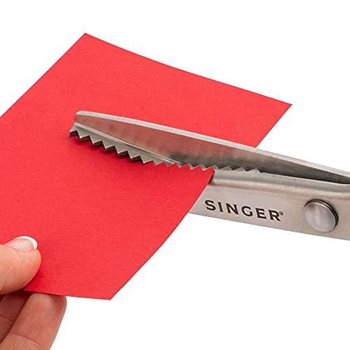 """SINGER 9"""" Pinking Shears Scissors, White"""