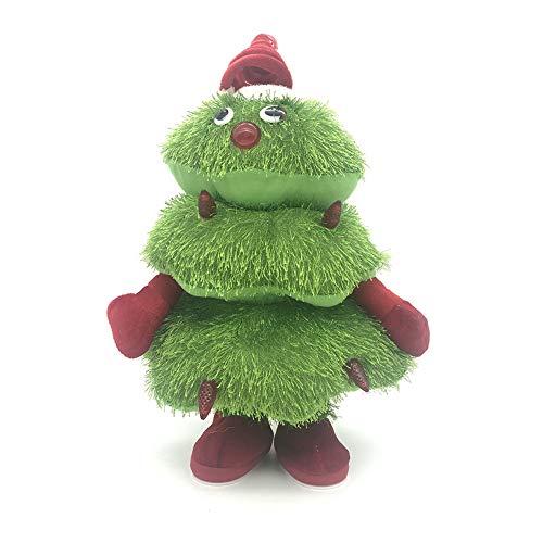 Phayee Elektrisches Plüschtier, Musical Singen Tanzen Weihnachtsbaum Spielzeug,Kuscheltier Plüschtier Spielzeug, Kinder Geschenk