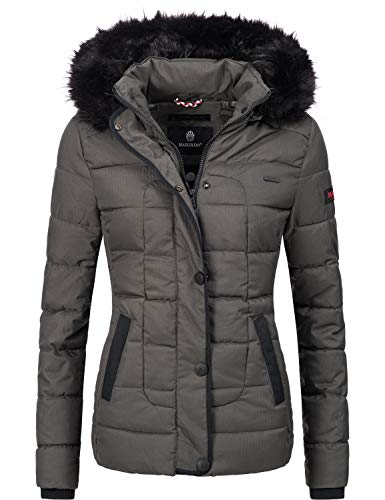 Marikoo Damen Winter Jacke Steppjacke Unique Anthrazit Gr. S