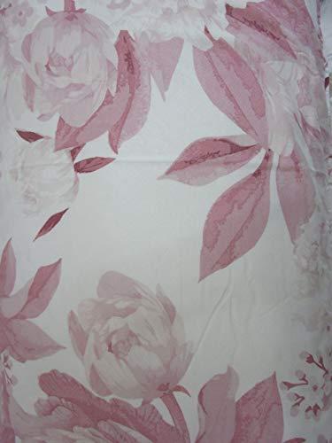Pago Poco Bettwäscheset für Doppelbett aus weicher Mikrofaser, Blumenmuster, Farbe: Grau / Rosa Rosa
