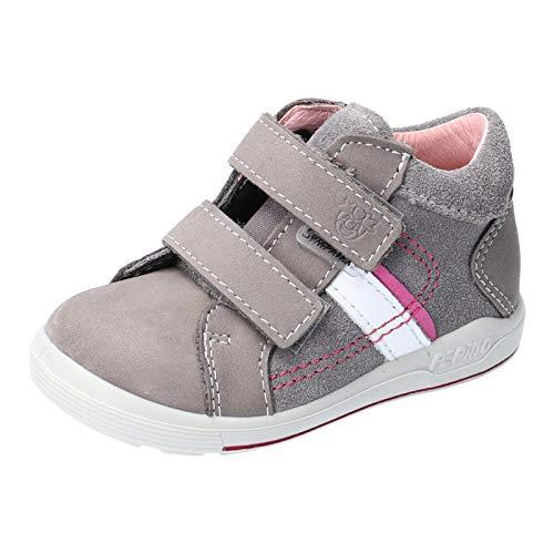 RICOSTA Kinder Stiefel LAIF von Pepino, Weite: Schmal (WMS),wasserfest, detailreich Boots Klettstiefel Leder Kids,Graphit/Candy,24 EU / 7 Child UK