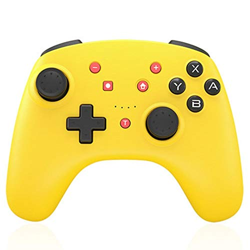 SongMyao Manette De Jeu Contrôleur de Jeu sans Fil Bluetooth Gamepad Mobile Computer Joystick Gamepad (Color : Yellow, Size : 15.3x11.1x6.1cm)