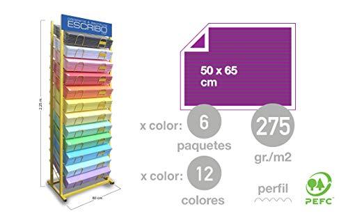 Expositor PROFESIONAL para Cartulinas Corrugadas de 50x65cm de 12 bandejas, exclusivo para mayoristas.