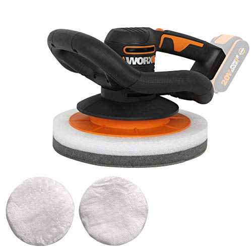 WORX WX856.9 Akku-Poliermaschine 20V – Elektrische Poliermaschine zum Polieren im Innen- und Außenbereich – Ohne Akku & Ladegerät